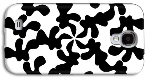 Abstract Forms Drawings Galaxy S4 Cases - Black Ink Shape Galaxy S4 Case by Frank Tschakert