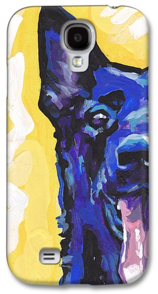 Puppies Galaxy S4 Cases - Black is Black Galaxy S4 Case by Lea