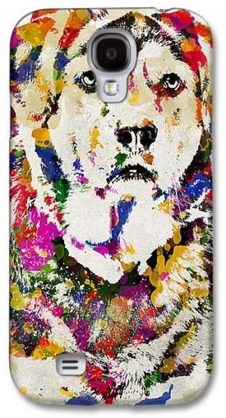 Dogs Digital Art Galaxy S4 Cases - Black Lab Watercolor Art Galaxy S4 Case by Christina Rollo
