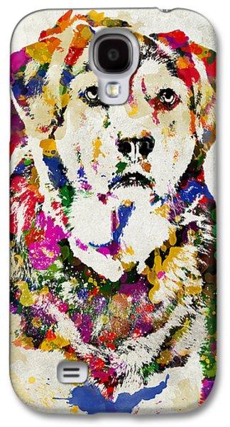 Labrador Digital Galaxy S4 Cases - Black Lab Watercolor Art Galaxy S4 Case by Christina Rollo