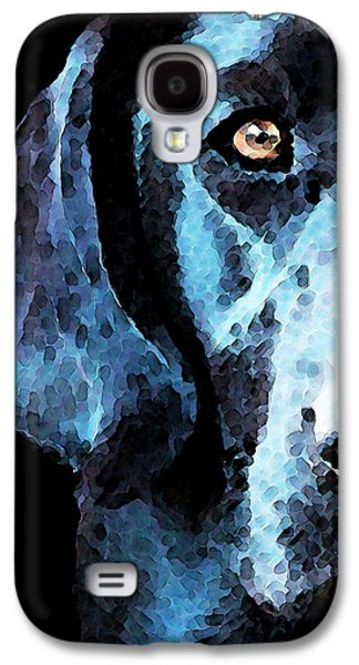 Pet Digital Art Galaxy S4 Cases - Black Labrador Retriever Dog Art - Hunter Galaxy S4 Case by Sharon Cummings