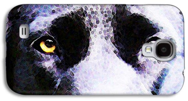 Labrador Digital Galaxy S4 Cases - Black Labrador Retriever Dog Art - Lab Eyes Galaxy S4 Case by Sharon Cummings