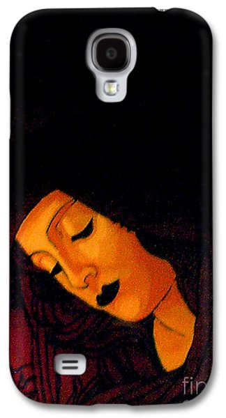 Byzantine Paintings Galaxy S4 Cases - Black Madonna Galaxy S4 Case by Genevieve Esson