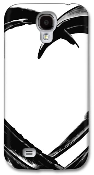 Heart Paintings Galaxy S4 Cases - Black Magic 311 by Sharon Cummings Galaxy S4 Case by Sharon Cummings