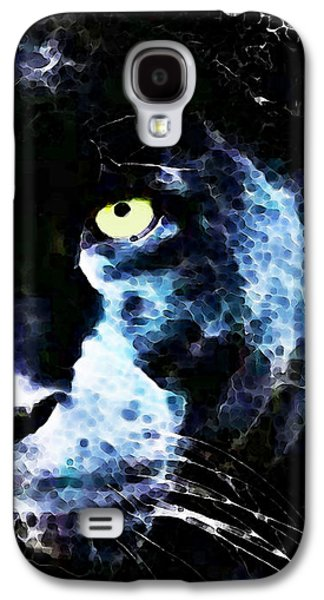 Panther Galaxy S4 Cases - Black Panther Art - After Midnight Galaxy S4 Case by Sharon Cummings
