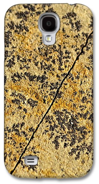 Black Patterns On The Sandstone Galaxy S4 Case by Jozef Jankola