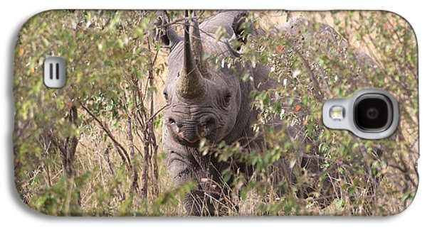 Black Rhino  Galaxy S4 Case by Chris Scroggins