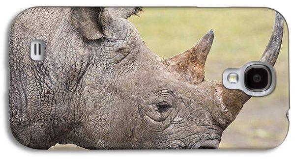 One Horned Rhino Galaxy S4 Cases - Black Rhino Great Rift Valley Kenya Galaxy S4 Case by Elliott Neep