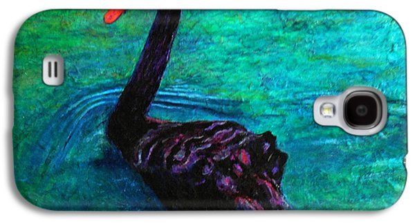 Swans... Paintings Galaxy S4 Cases - Black Swan Galaxy S4 Case by Michael Durst