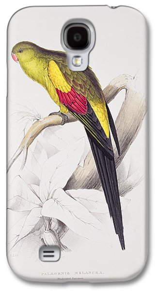 Black Tailed Parakeet Galaxy S4 Case by Edward Lear