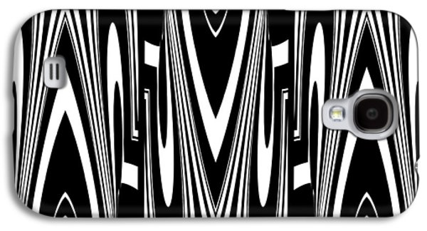 Abstract Digital Art Galaxy S4 Cases - Black White Geometric 3 Galaxy S4 Case by Patricia Keith