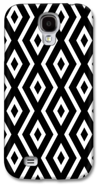 Black And White Pattern Galaxy S4 Case by Christina Rollo