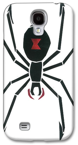 Invertebrates Mixed Media Galaxy S4 Cases - Black Widow Galaxy S4 Case by Earl ContehMorgan