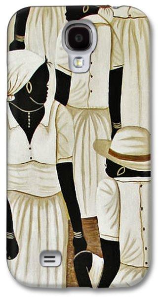 Paiting Galaxy S4 Cases - Black Women At Work Galaxy S4 Case by Bozena Simeth