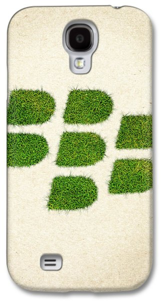 Waste Galaxy S4 Cases - Blackberry Grass Logo Galaxy S4 Case by Aged Pixel