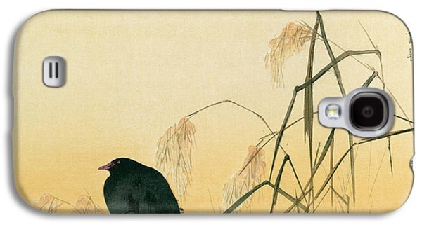 Crows Paintings Galaxy S4 Cases - Blackbird Galaxy S4 Case by Japanese School