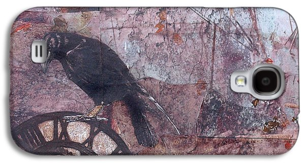 Mechanism Mixed Media Galaxy S4 Cases - Blackbird Time Galaxy S4 Case by Judy Tolley