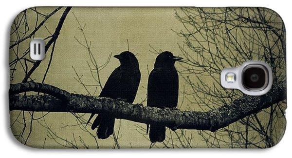 Creative Blackbird Galaxy S4 Cases - Blackbirds on a Branch Galaxy S4 Case by Patricia Strand
