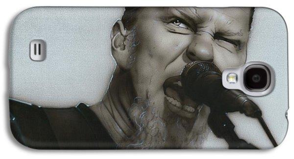 Metallica Galaxy S4 Cases - Blackened Galaxy S4 Case by Christian Chapman Art