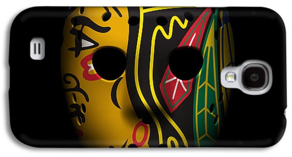 Blackhawks Goalie Mask Galaxy S4 Case by Joe Hamilton