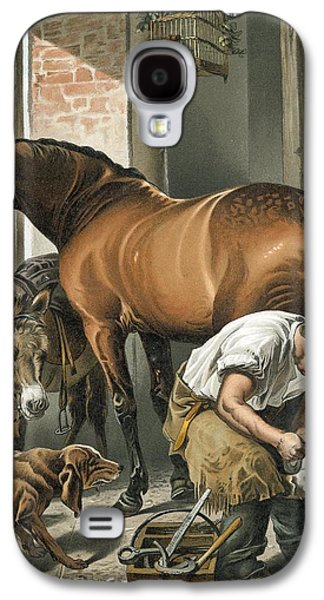 Cage Galaxy S4 Cases - Blacksmith Galaxy S4 Case by Sir Edwin Landseer