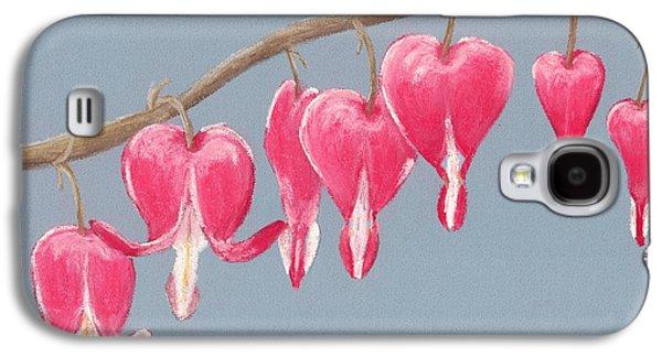 Lady Galaxy S4 Cases - Bleeding Hearts Galaxy S4 Case by Anastasiya Malakhova