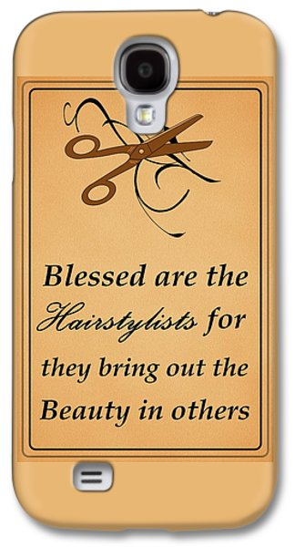 Hairstyle Digital Galaxy S4 Cases - Blessed Are the Hairstylists  Galaxy S4 Case by Movie Poster Prints