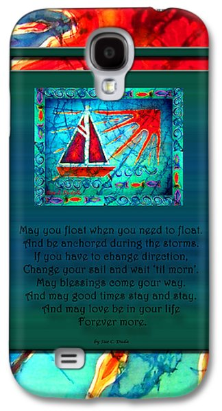Transportation Tapestries - Textiles Galaxy S4 Cases - Blessings 1 Galaxy S4 Case by Sue Duda