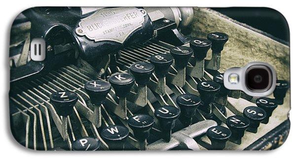Typewriter Keys Photographs Galaxy S4 Cases - Blickensderfer Typewriter Galaxy S4 Case by Daniel Hagerman