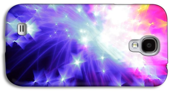 Abstract Digital Photographs Galaxy S4 Cases - Blinded by the Light Galaxy S4 Case by Dazzle Zazz
