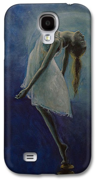 Meditation Paintings Galaxy S4 Cases - Bliss Galaxy S4 Case by Dorina  Costras