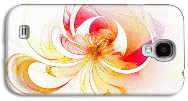 Floral Digital Art Digital Art Galaxy S4 Cases - Blissful Galaxy S4 Case by Amanda Moore