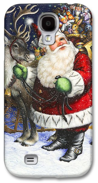 Christmas Cards - Galaxy S4 Cases - Blitzen Galaxy S4 Case by Lynn Bywaters