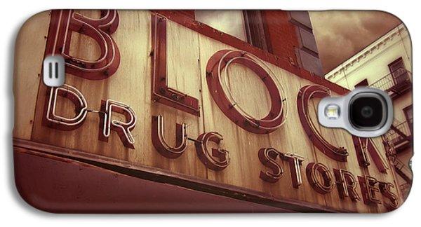 East Village Galaxy S4 Cases - Block Drug Store - New York Galaxy S4 Case by Jim Zahniser