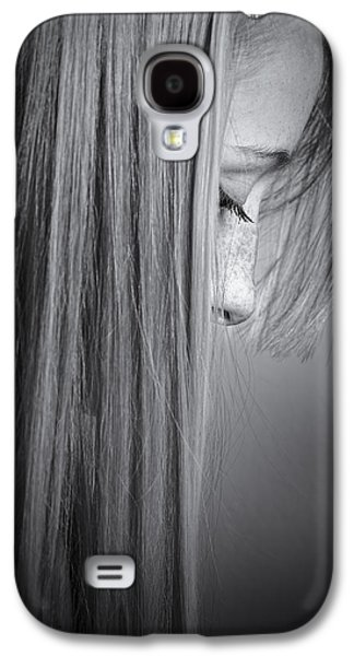 Galaxy S4 Cases - Blonde Girl Galaxy S4 Case by Krzysztof Hanusiak