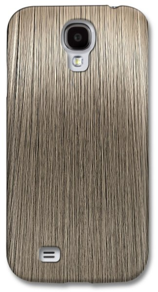 Wavy Galaxy S4 Cases - Blonde Hair Perfect Straight Galaxy S4 Case by Allan Swart