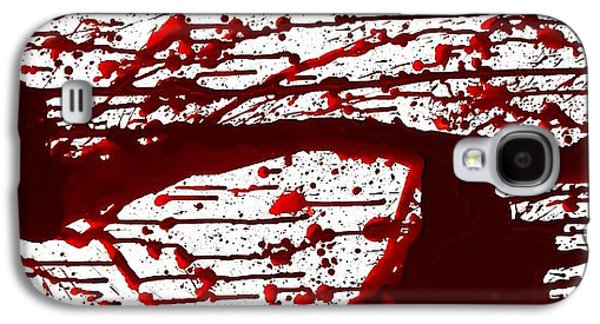 Recently Sold -  - Creepy Galaxy S4 Cases - Blood Spatter Series Galaxy S4 Case by Holly Anderson