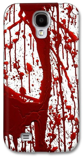 Recently Sold -  - Creepy Galaxy S4 Cases - Blood Splatter II Galaxy S4 Case by Holly Anderson