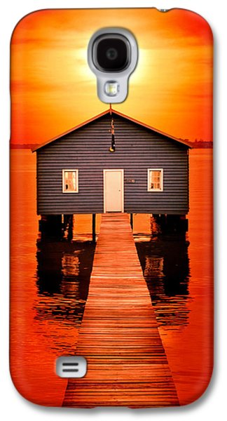 Sheds Galaxy S4 Cases - Blood Sunset Galaxy S4 Case by Az Jackson