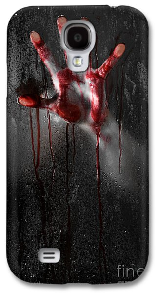 Recently Sold -  - Creepy Galaxy S4 Cases - Bloody Hand Galaxy S4 Case by Jt PhotoDesign