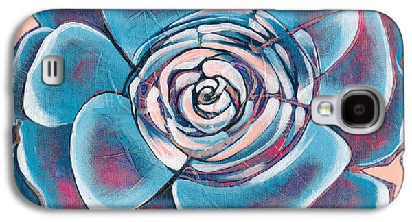 Red Abstract Paintings Galaxy S4 Cases - Bloom I Galaxy S4 Case by Shadia Zayed
