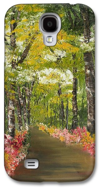 Smokey Mountains Paintings Galaxy S4 Cases - Blooming Borders Galaxy S4 Case by Ralph Loffredo