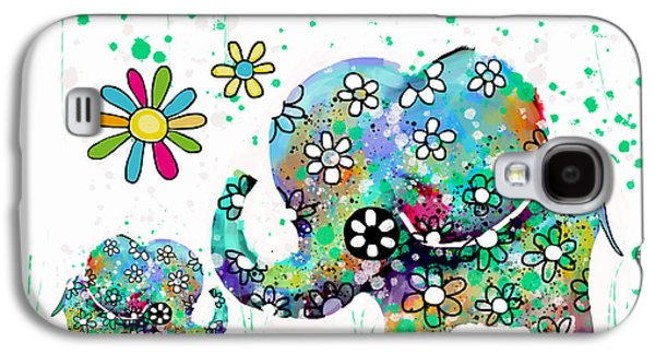 Blooming Elephants Galaxy S4 Case by Karin Taylor