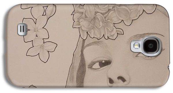 Lilacs Drawings Galaxy S4 Cases - Blooming Girl Lilac Close Up Galaxy S4 Case by Aaron El-Amin