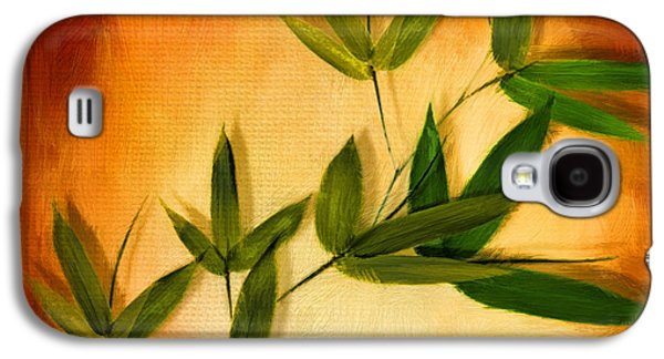 Bamboo Galaxy S4 Cases - Blooming Leaves Galaxy S4 Case by Lourry Legarde