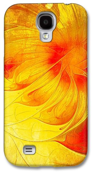 Abstract Digital Digital Galaxy S4 Cases - Blooming Spring Galaxy S4 Case by Amanda Moore