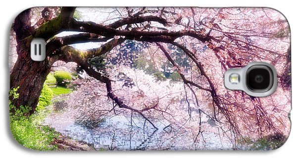 Cherry Blossoms Galaxy S4 Cases - Blossoming cherry tree touching water Galaxy S4 Case by Oleksiy Maksymenko