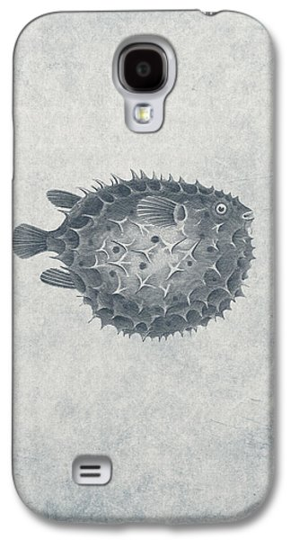 Aquatic Drawings Galaxy S4 Cases - Blowfish - Nautical Design Galaxy S4 Case by World Art Prints And Designs