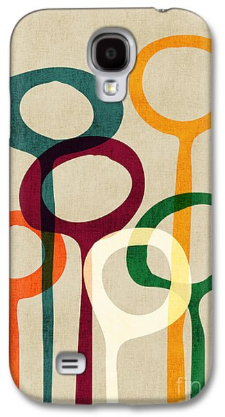 Colorful Abstract Digital Galaxy S4 Cases - Blowing bubbles Galaxy S4 Case by Budi Kwan