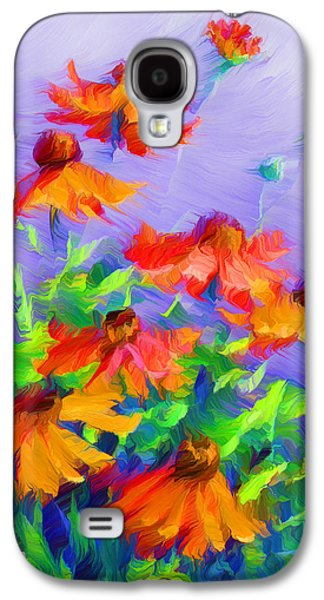 Abstract Digital Mixed Media Galaxy S4 Cases - Blowing In The Wind Galaxy S4 Case by Georgiana Romanovna